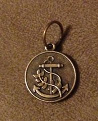 894. Round Bronze Anchor Pendant