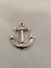 17. Tibetan antique silver Anchor pendant with rope