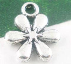 716. 2 sided 6 Petal Flower Pendant