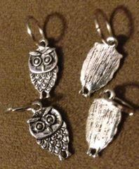 206. Small Standing Owl Pendant
