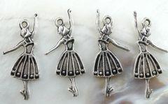 65. Girl Dancer with pleated skirt Pendant