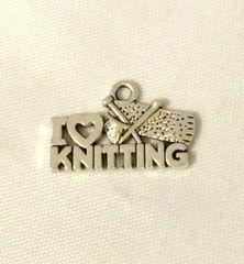 1404. I Love Knitting Pendant