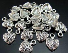 494. Small Ornate Heart Pendant