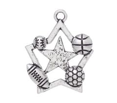 45. Allstar Basketball, Baseball, Football & Soccer Pendant