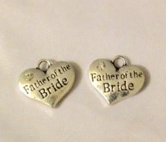 1220. 2 sided Rhinestone Father of the Bride Pendant