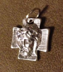 328. Cross with Jesus Face Pendant