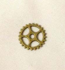 157. Antique Bronze large Clock Gear Pendant