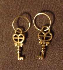398. Small Golden Key Pendant