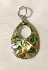 1199. Abalone Shell Drop Pendant