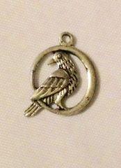 1450. Bird in Circle Pendant