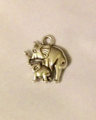 1445. Mother and Baby Elephant Pendant