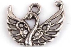 747. Antique Silver Swan Pendant