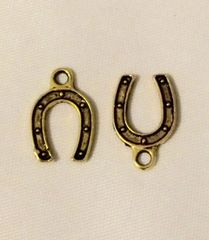 117. Antique Gold Horseshoe Pendant