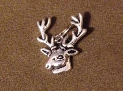 589. Deer Head with Big Antlers Pendant