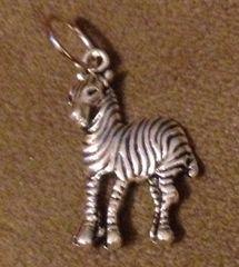 878. Tall Zebra Pendant