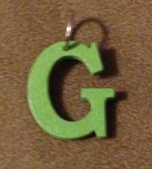 934. Wood Letter G Pendant