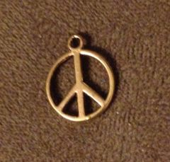 433. Golden Peace Sign Pendant