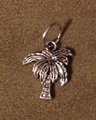 562. Tibetan Silver Coconut Palm Tree Pendant
