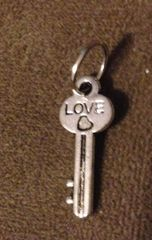 410. 'Love' with Heart Key Pendant