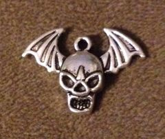 991. Skull with Wings Pendant