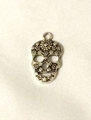 1358. Silver Sugar Skull Pendant