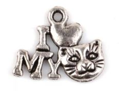 171. I 'heart' My Cat (face) Pendant