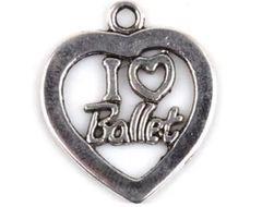 """37. """"I 'heart' Ballet Heart Pendant"""