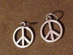 437. Medium Peace Sign Pendant