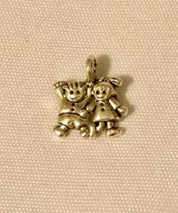 1763. Boy and Girl Pendant