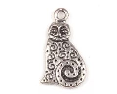 180. Fat Swirly Tail Cat Pendant