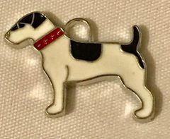 1800. Enameled Dog Pendant