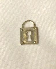 674. Thin Silver Lock Pendant