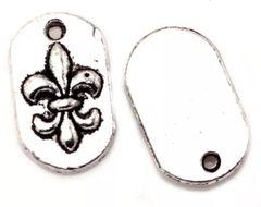 303. Framed Fleur-de-lis Pendant