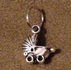 823. 3D Baby Carriage Pendant