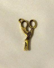 1380. Antique Gold Bird Scissor Pendant