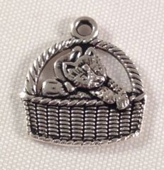 177. Cat in basket Pendant