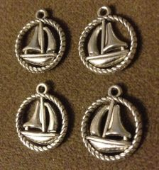 239. Round Sailboat Pendant