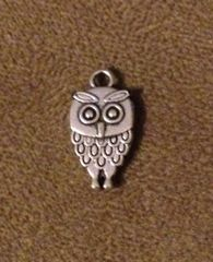 840. 2 sided Small Standing Owl Pendant