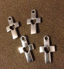 331. Cross with Heart Pendant