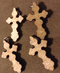 326. Wood Cross Pendant
