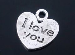 473. Double Sided 'I Love You' Pendant