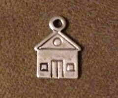 1043. 2 sided House Pendant