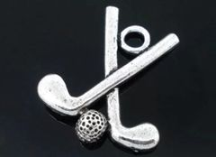 119. Golf Clubs and Ball Pendant