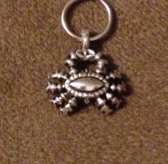 890. Antique Silver Crab Pendant
