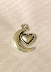 1551. Heart and Moon Pendant