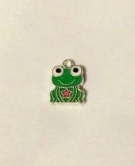 1371. Enameled Dark Green Frog Pendant