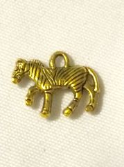 1414. Antique Gold Zebra Pendant