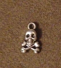530. Tiny Skull on Crossbones Pendant