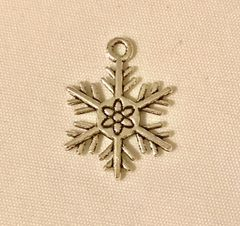 1743. 2 sided Snowflake Pendant