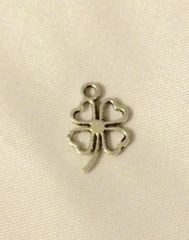 92. Small Hollow Four Leaf Clover Pendant